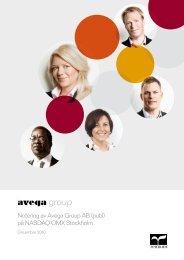 Notering av Avega Group AB (publ) på NASDAQ OMX Stockholm