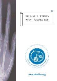 REU-bulletinen nr 65 - Svensk Reumatologisk Förening