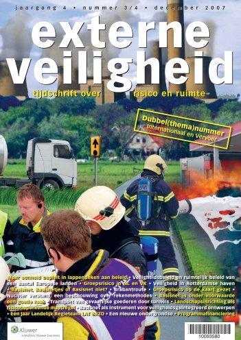 tijdschrift over risico en ruimte tijdschrift over risico en ... - Delft Cluster