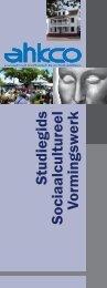 Studiegids Sociaalcultureel Vormingsw erk - Academie voor Hoger ...