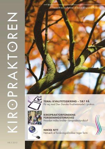 kiropraktoren nr. 5 - oktober 2010 - Dansk Kiropraktor Forening