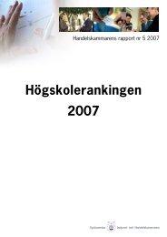 1. Högskolerankingen 2007 - Barometern