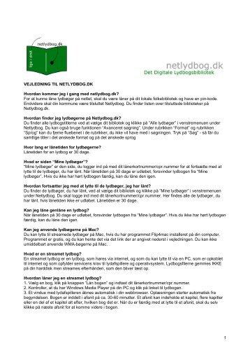 1 VEJLEDNING TIL NETLYDBOG.DK Hvordan ... - Thisted Bibliotek