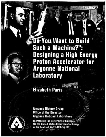 Designing a high energy proton - Argonne National Laboratory