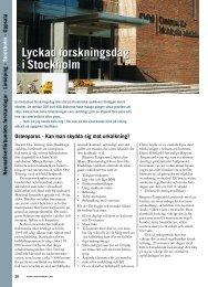 26 Forskardagar i Stockholm - Välkommen till Reumatikertidningens ...