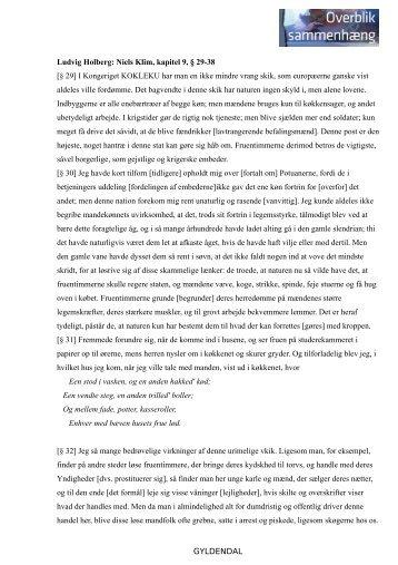 GYLDENDAL Ludvig Holberg: Niels Klim, kapitel 9, § 29-38 [§ 29] I ...