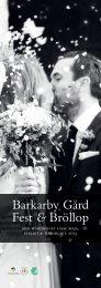 Ladda ned vår bröllopsfolder - Barkarby Gård