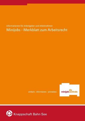 Informationen zum Arbeitsrecht für Minijobber - Competentia NRW