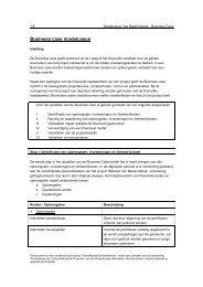 Uitwerking Business case voor de modelcasus (pdf ... - Belvedere