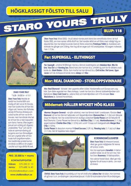 STARO YOURS TRULY - Stall Bredbyn