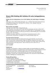 Sivers IMA Holding AB Pressmeddela Holding AB ... - AktieTorget