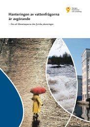 Hanteringen av vattenfrågorna är avgörande - Webbutik - Sveriges ...