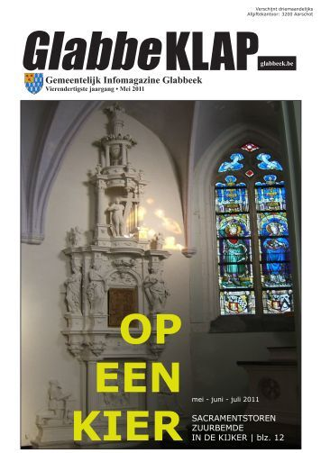 "Gemeentelijk Infoblad ""GlabbeKLAP"" - mei 2011 - Gemeente glabbeek"