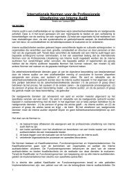 Internationale Normen voor de Professionele Uitoefening van ...