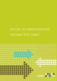 Succes- en belemmerende factoren EVC-markt - Kenniscentrum EVC