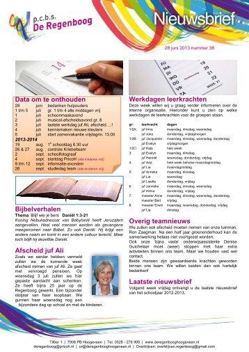 2013-06-28 nieuwsbrief nr 38 - PricoH