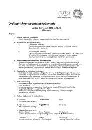 Referat af Repræsentantskabsmøde 2013 - Dansk Sanger-Forbund