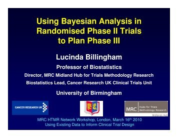 Bayesian analysis of phase II trials to plan phase III trials