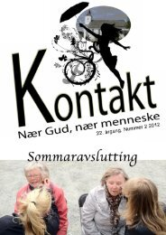 Kontakt nr. 2 2012 - Meland kyrkjelyd