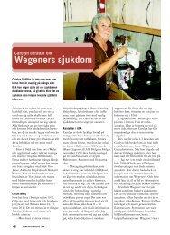 46 Carolyn har Wegeners sjukdom - Välkommen till ...