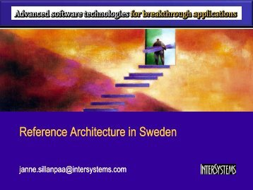 Reference Reference Architecture Architecture in ... - intersystems.dk