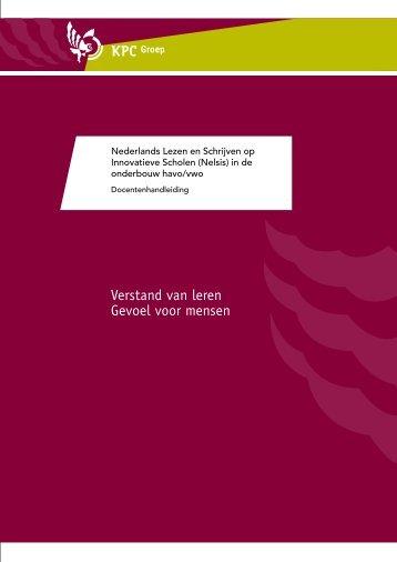 Handleiding voor docenten (pdf) - Nelsis