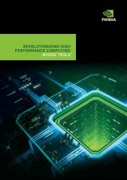revolutionizing high performance computing nvidia® tesla