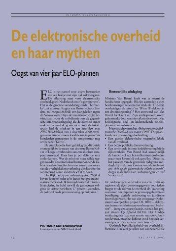 De elektronische overheid en haar mythen