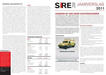 Jaarverslag 2011 - Sire