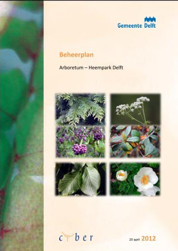Beheerplan - Arboretum-Heempark