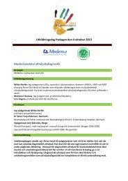 Muskuloskeletal ultraljudsdiagnostik - LSR
