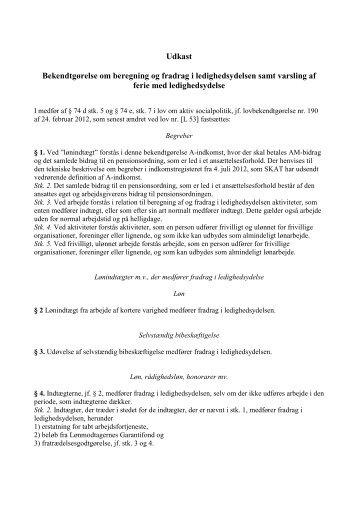 Bekendgørelse om fradrag i ledighedsydelse 19.11 - Net