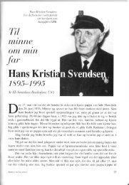 Hans Kristian Svendsen 1895-1995 - Salangen Historielag