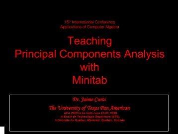 talk, pdf file - ACA 2009