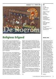 Religieus Erfgoed - De Roerom
