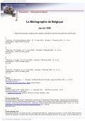 La Bibliographie de Belgique - Koninklijke Bibliotheek van België - Page 3