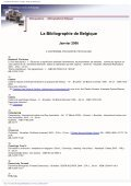 La Bibliographie de Belgique - Koninklijke Bibliotheek van België - Page 7