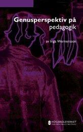 Genusperspektiv på pedagogik - Nationella sekretariatet för ...
