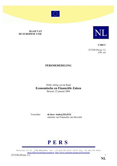 NL - Eerste Kamer der Staten-Generaal