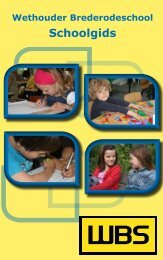 Schoolgids 2011-2012 - Wethouder Brederodeschool