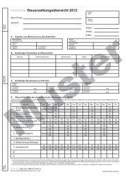 Steuerzahlungsübersicht 2012