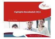 Bouwbesluit 2012 Highlights - Bouwen