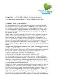 Page 1 Vanliga frågor om EU-direktivet gällande växtbaserade ...