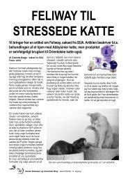 feliway til stressede katte - Dansk Siameser & Orientaler Ring