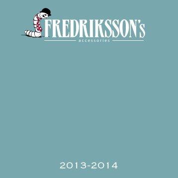 Ladda ner katalog 2013 i PDF. - Fredriksson´s slipsar