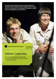 Folder Hållbart Ledarskap - Naturskyddsföreningen