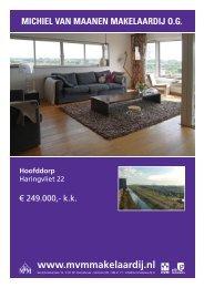 Download brochure - Michiel van Maanen Makelaardij
