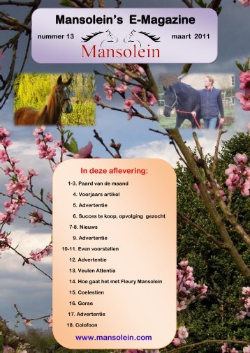E-Magazine NR 13 Maart Met als special - Stal Mansolein