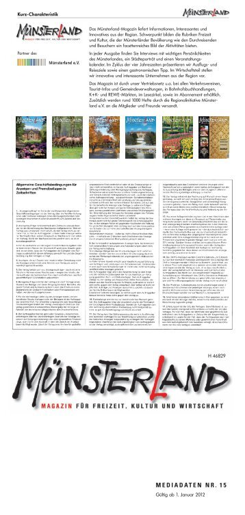MEDIADATEN NR. 15 - Tecklenborg Verlag