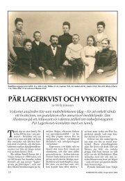 PÄR LAGERKVIST OCH VYKORTEN - Nordisk Filateli